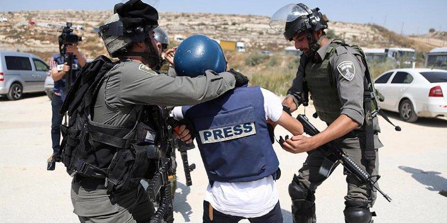 İsrail güçlerinden gazetecilere sert müdahale