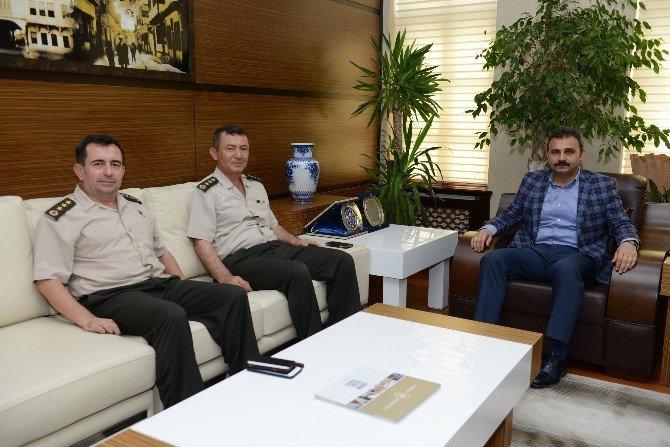 Komutanlardan Başkan Külcü'ye ziyaret