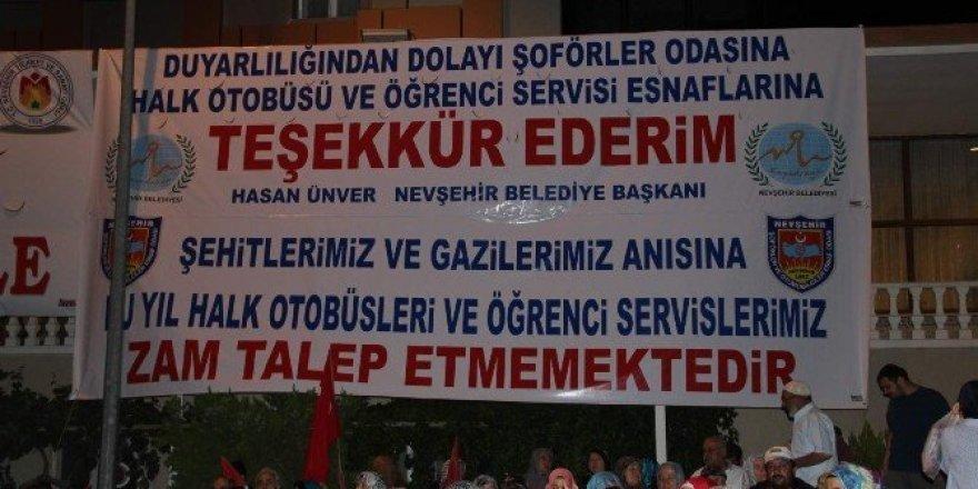 Nevşehir'de bu yıl öğrenci servis ve şehir içi yolcu taşımacılığına zam yok