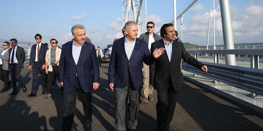 Yıldırım Yavuz Sultan Selim Köprüsü'nü inceledi