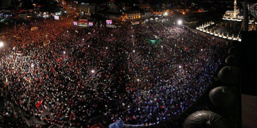 Konya'da nöbet sürüyor