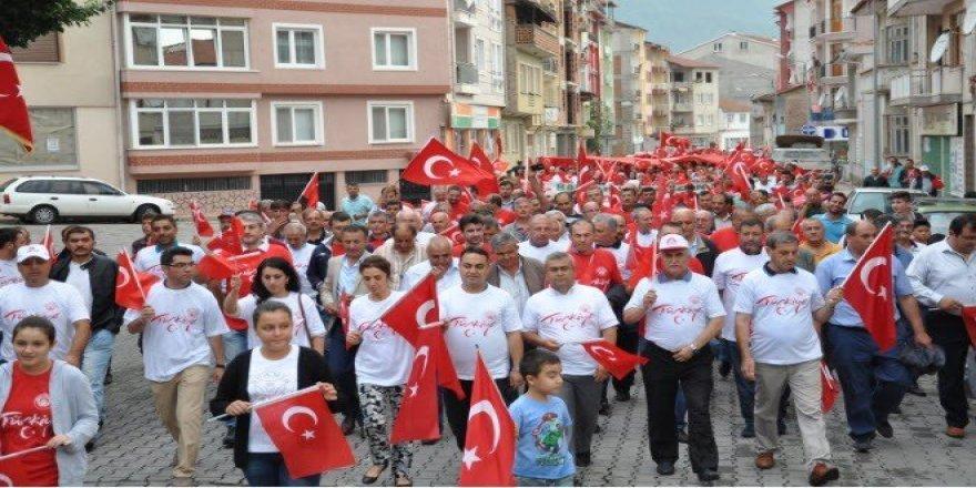 """Simav'da 5 bin kişilik """"Milli irade ve Demokrasi yürüyüşü"""""""