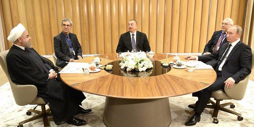 Bakü'deki üçlü zirvede ekonomik ilişkiler ve güvenlik ele alındı