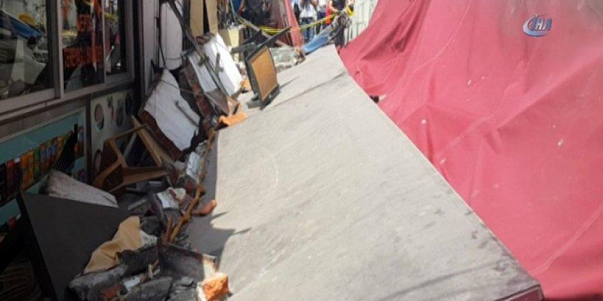 Lokantanın duvarı çöktü: 3 yaralı