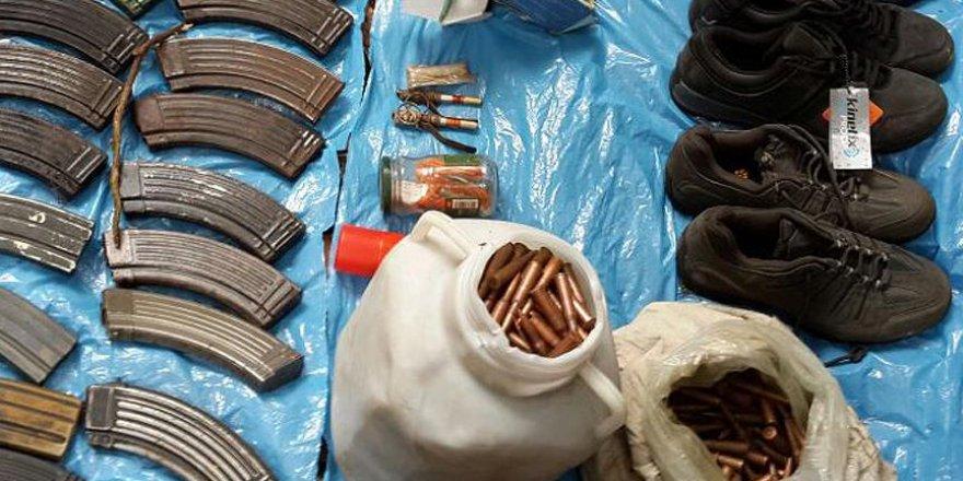 Iğdır'da terör örgütü PKK'nın mühimmatı ele geçirildi