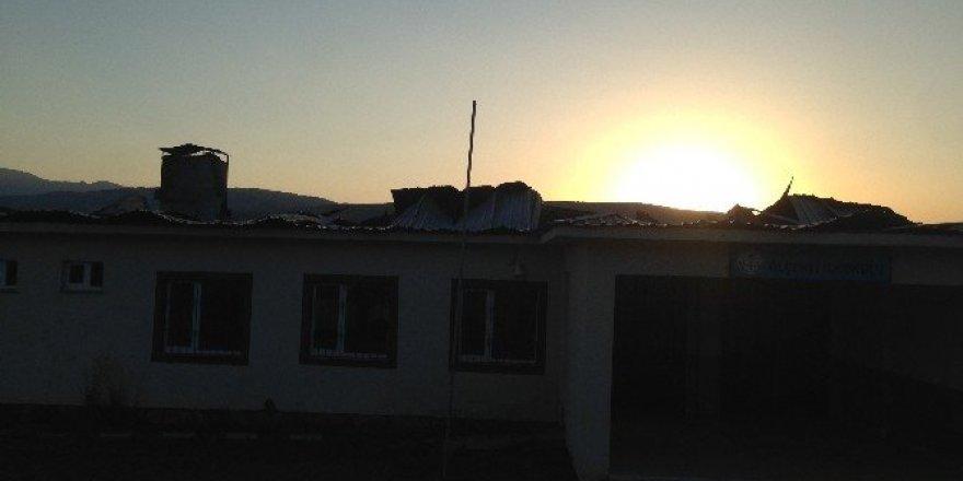 Köy okulunda yangın