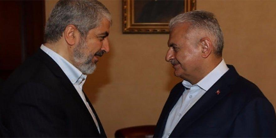 Başbakan Yıldırım, Halid Meşal'le görüştü