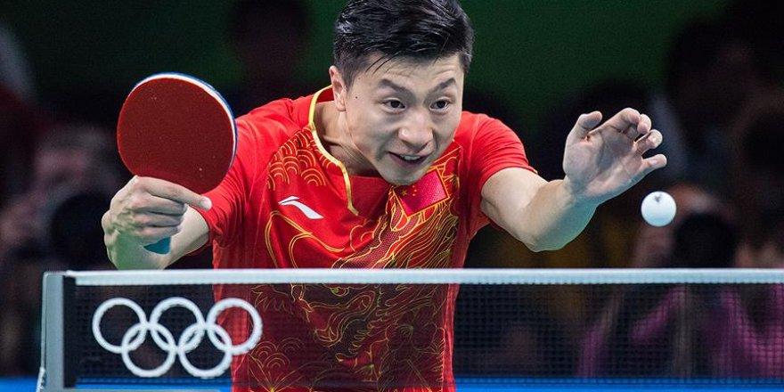 Masa tenisi tek erkeklerde altın madalya Çin'in