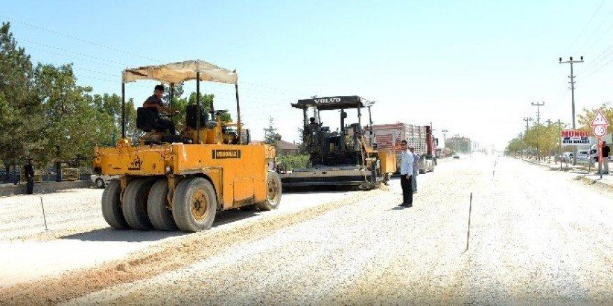 Büyükşehir'den Cihanbeyli Grup Yoluna 7 milyonluk yatırım