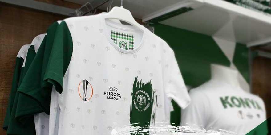 Konyaspor'dan Avrupa'ya özel tişört