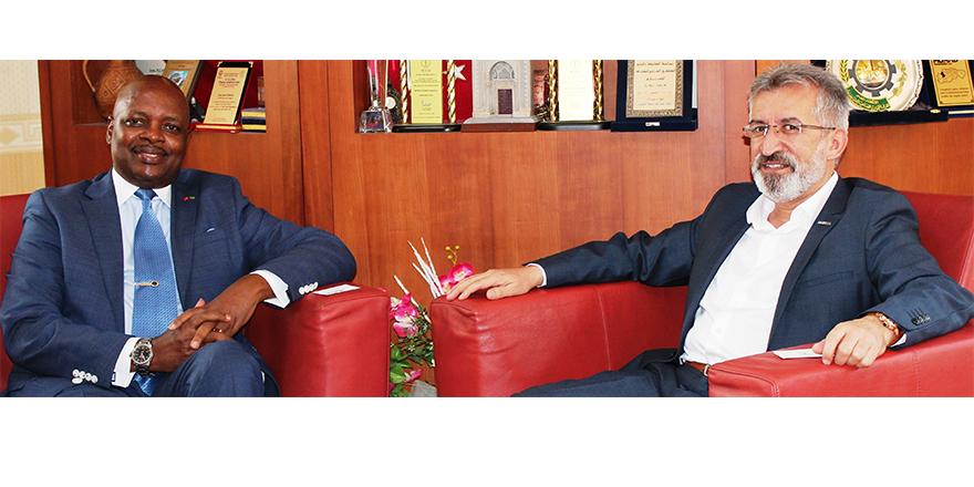 Ruanda Büyükelçisi, MÜSİAD Konya Şubesi'ni ziyaret etti
