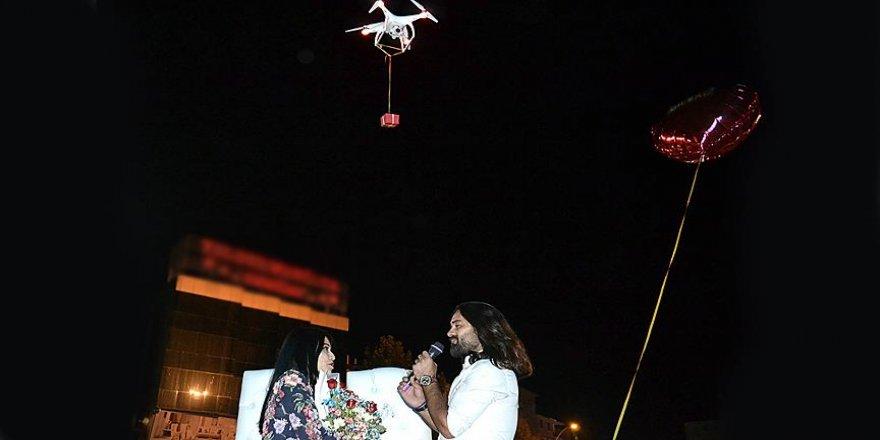 Drone ile 'evlenme teklifi'