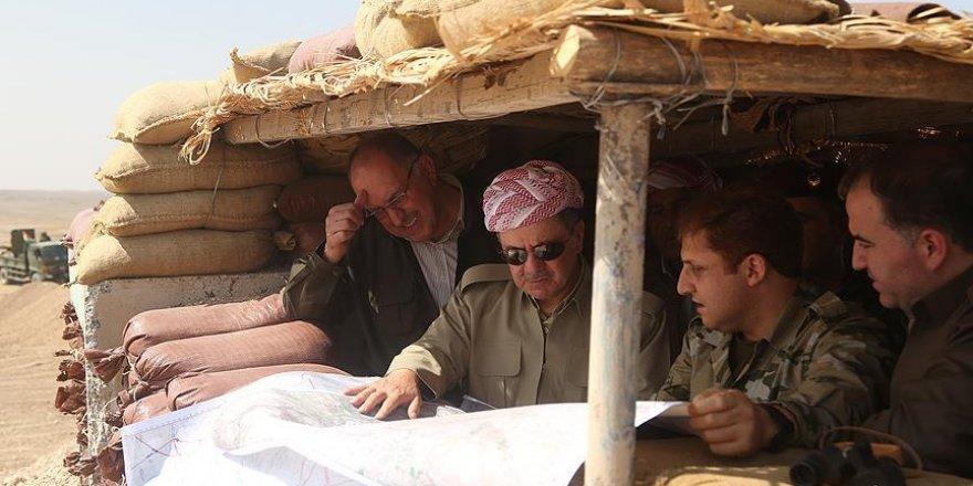 Mesut Barzani Musul'da çatışma bölgesinde
