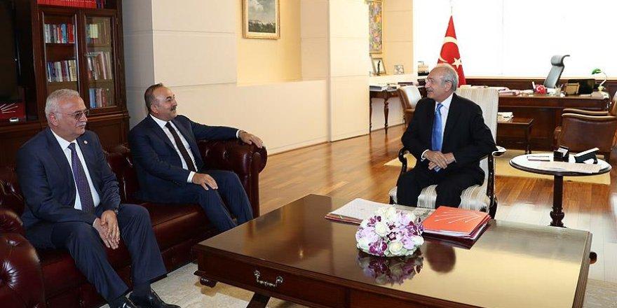Çavuşoğlu'ndan Kılıçdaroğlu'na ziyaret
