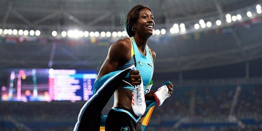 Atletizm kadınlar 400 metrede zafer Bahamalı Miller'ın