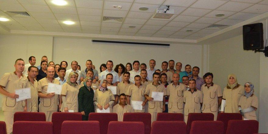 Ilgın'da hastane personeline temizlik kursu