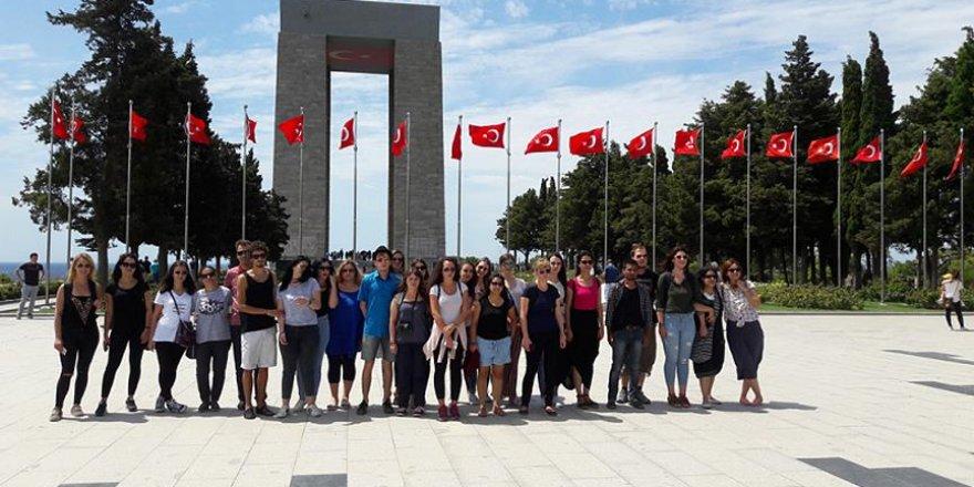 Yabancı öğrenciler Çanakkale'de tarihi yolculuğa çıktı