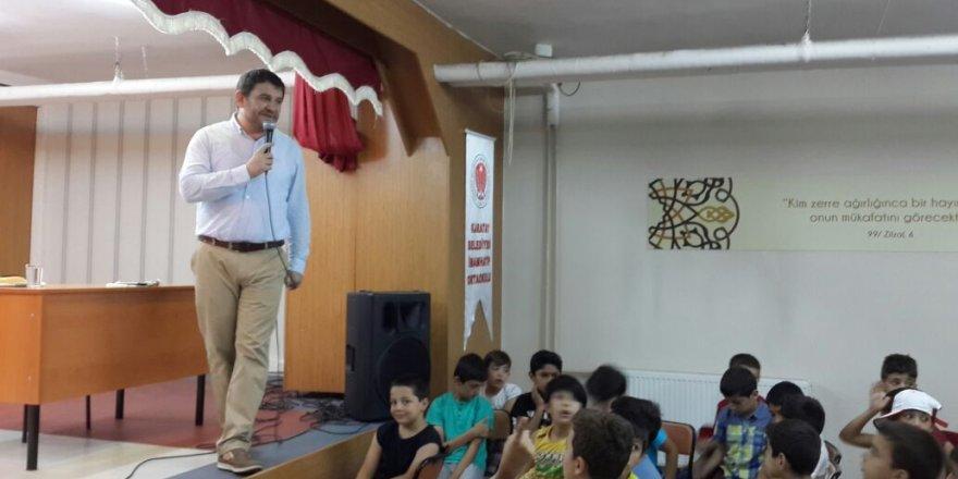 Lokman Koyuncuoğlu Genç KOMEK öğrencilerine seminer verdi