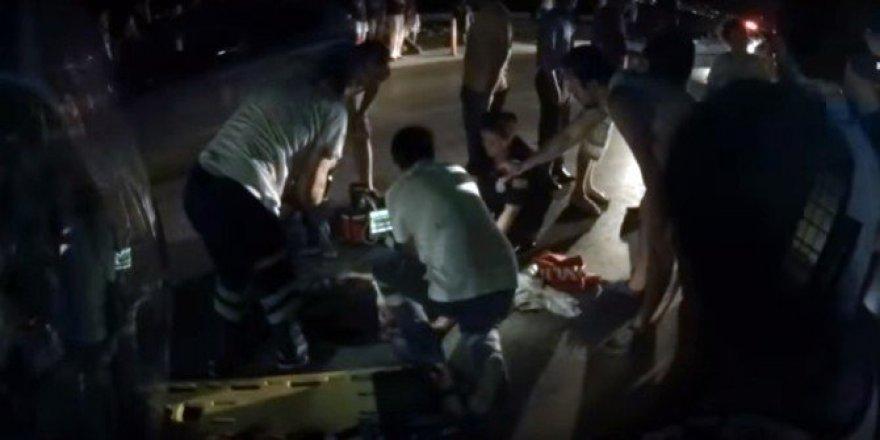 O kaza sonrası yaşananlar kask kamerasında