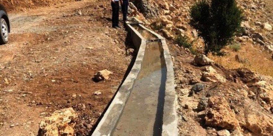 Tut ilçesinde yaban hayvanlarına su oluğu yapıldı