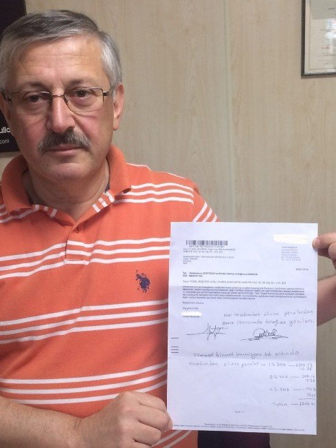 Rizeli iş adamının 4 bin 200 TL'lik 'dönemsel hizmet komisyonu' tepkisi