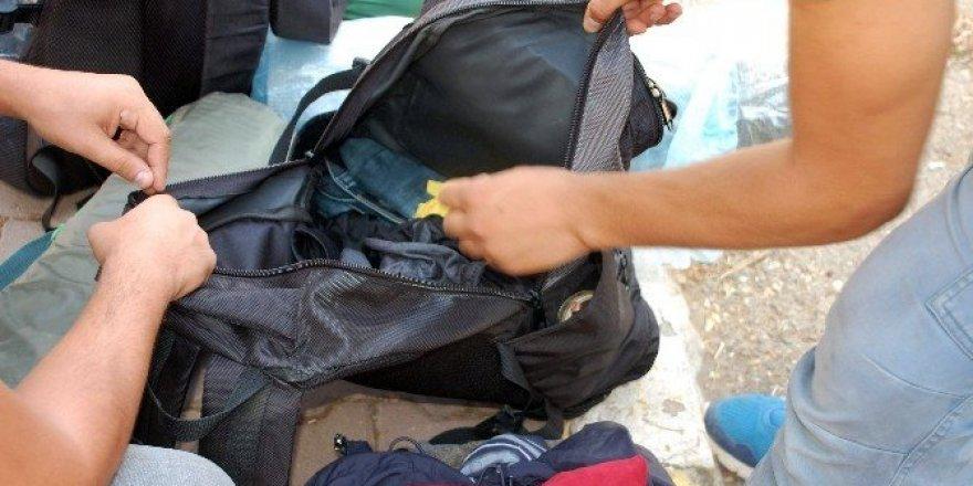 Sırt çantalı şüpheli şahıs polisi harekete geçirdi