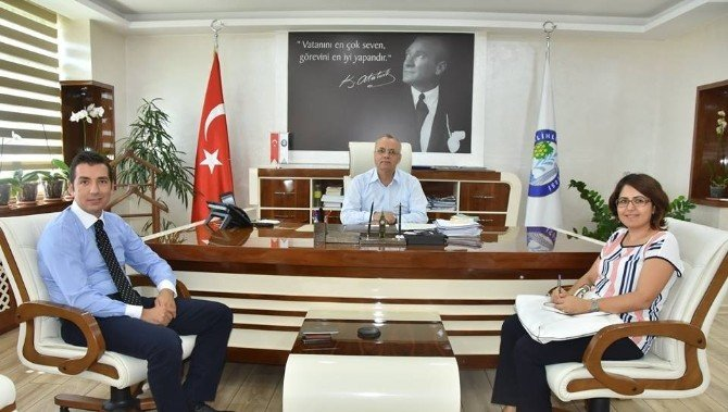 Banka Müdürü Pınar'dan Başkan Kayda'ya ziyaret