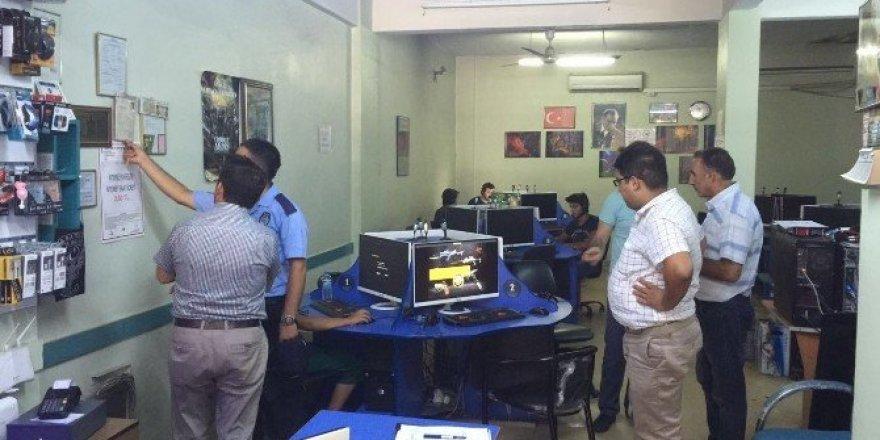 Akhisar'da internet kafeler denetlendi