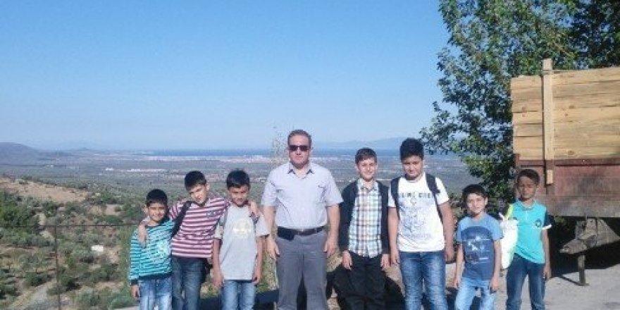 Dutlucalı öğrencilerin kamp sevinci