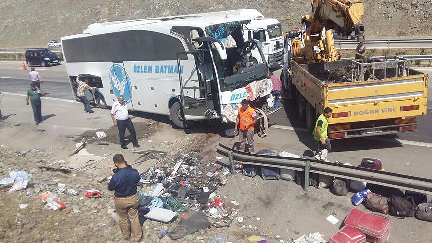 Gaziantep'te yolcu otobüsü devrildi: 4 ölü