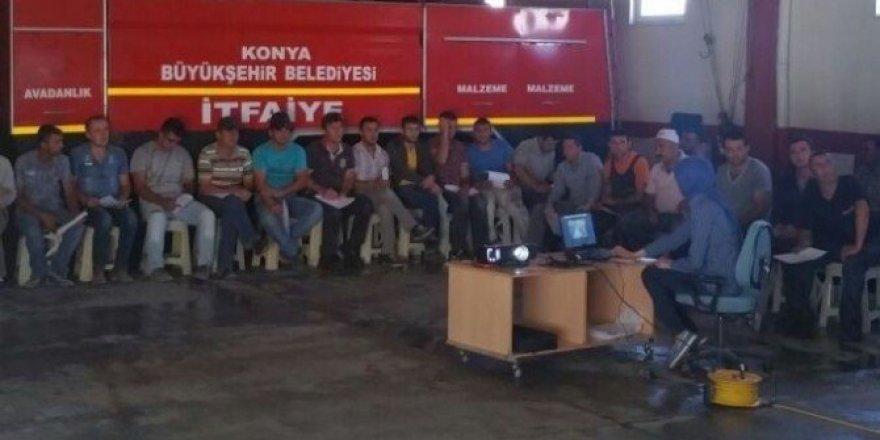 Seydişehir Belediyesi'nde iş sağlığı ve iş güvenliği eğitimi