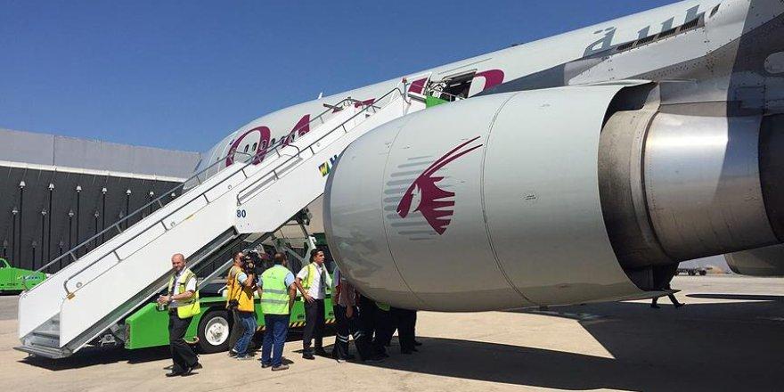 Katar uçağı, Atatürk Havalimanı'na acil iniş yaptı