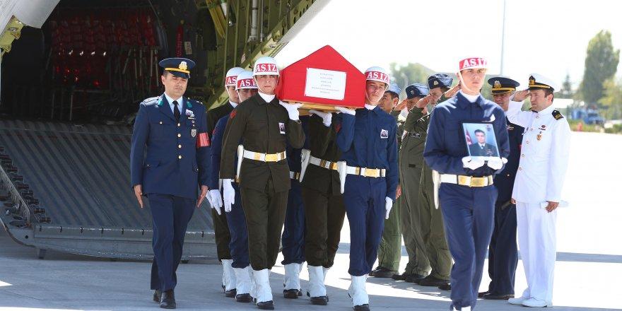 Şehit Üsteğmen Yücel'in cenazesi Konya'ya getirildi
