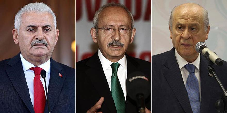 Başbakan Yıldırım, Kılıçdaroğlu ve Bahçeli ile bir araya gelecek