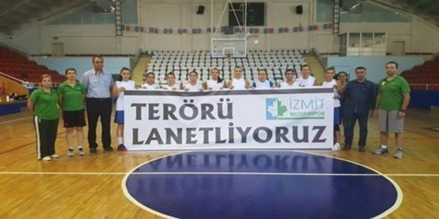 İzmit Belediyespor Kadın Basketbol takımından teröre tepki