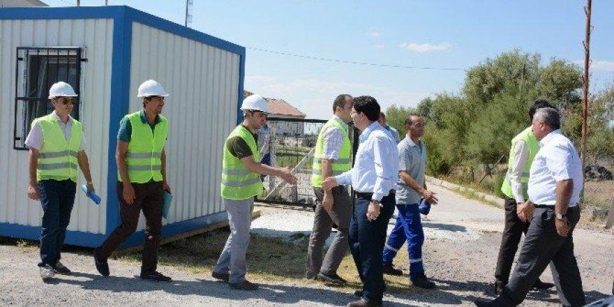 Aksaray'da içme suyu projesinde şantiye binaları kuruldu