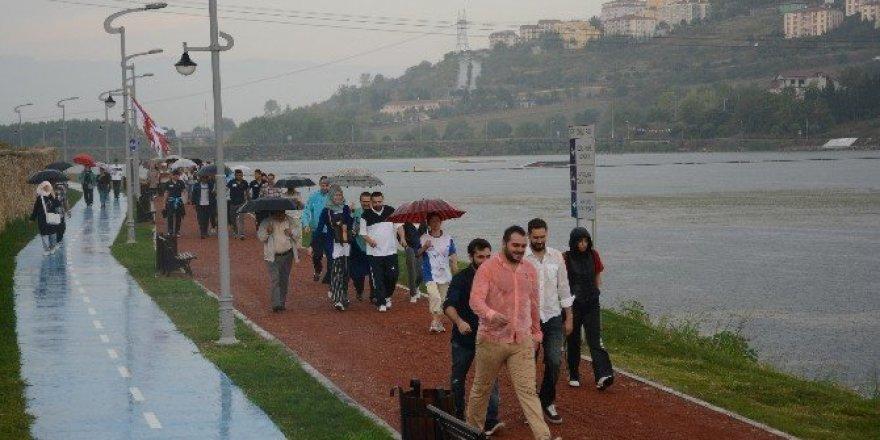 Gölkay Park 2. etapta ilk yürüyüş yapıldı