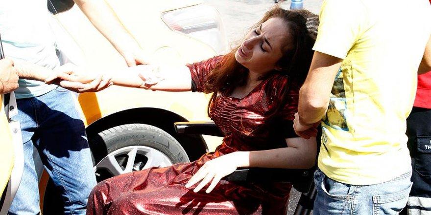 Gaziantep'teki saldırıda yaralanan gelin taburcu edildi