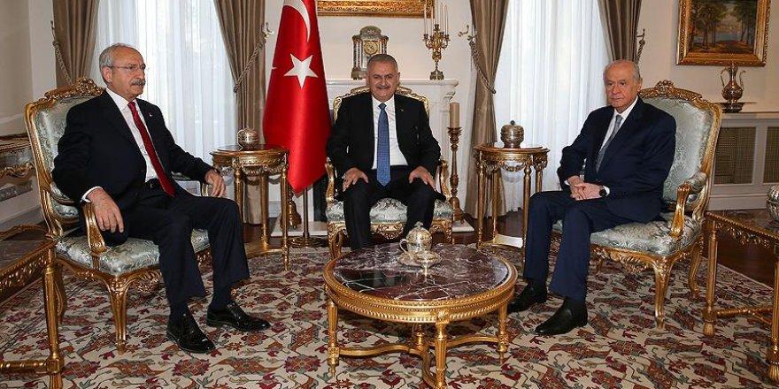 Yıldırım, Kılıçdaroğlu ve Bahçeli görüşmesi 3 saat sürdü