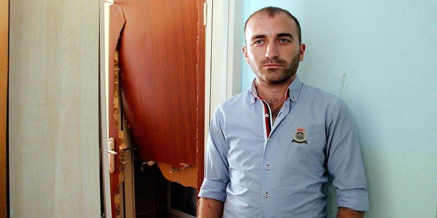 Elazığ'da yurdu zarar gören üniversitelilerden teröre tepki