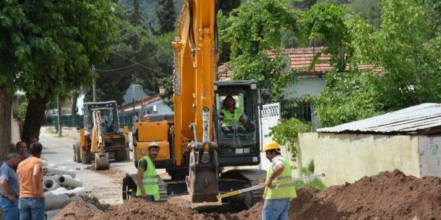 Akçapınar Mahallesinin kanalizasyon hattı tamamlandı