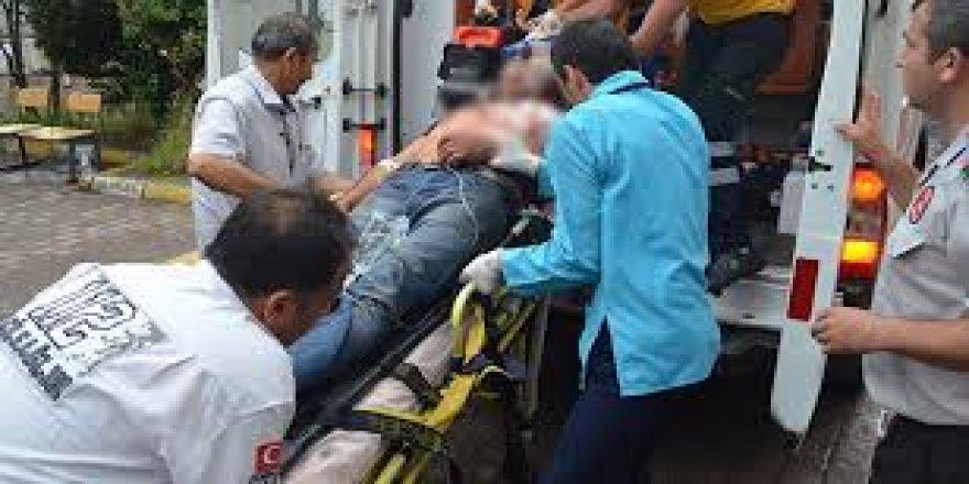 Nazilli'de bıçaklı kavga; 1 yaralı