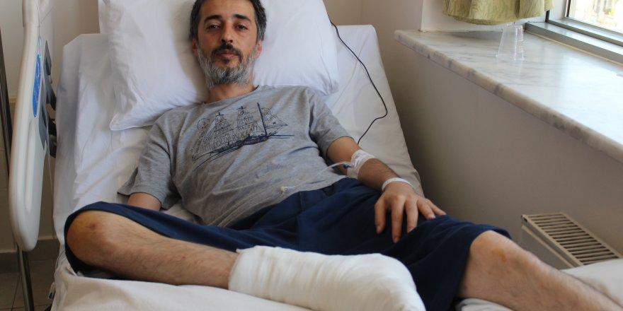Basketbol oynarken kırılan topuğu ameliyatla tedavi edildi