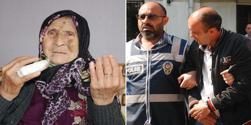 89 yaşındaki kadını parmağını kırarak gasbeden zanlı tutuklandı