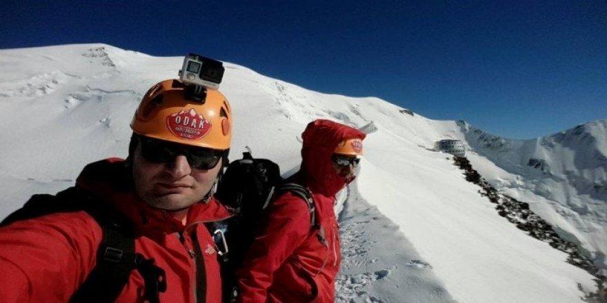 Ordulu dağcı Avrupa'nın çatısı Mont Blanc zirvesinde