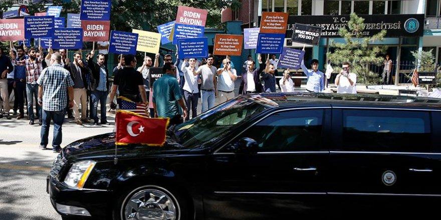 Başkentte 'Biden' protestosu