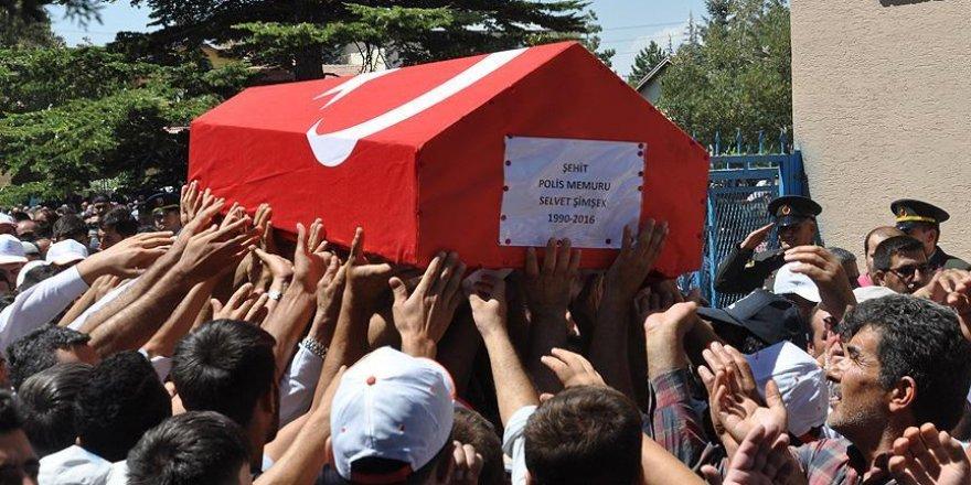 Konyalı şehit polis memuru Şimşek son yolculuğuna uğurlandı