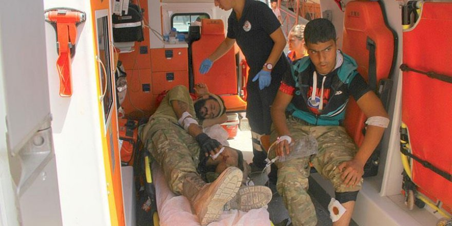 Operasyonda yaralanan 3 ÖSO mesubu Gaziantep'e getirildi