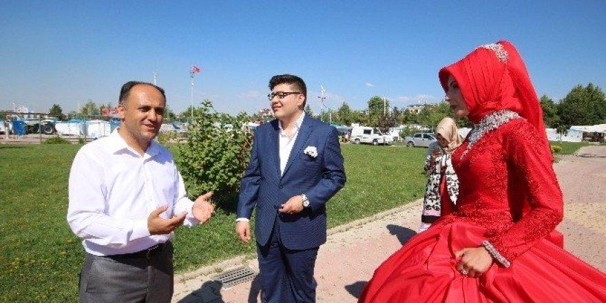 Beyşehir, evlenecek çiftler için doğal fotoğraf stüdyosu oldu