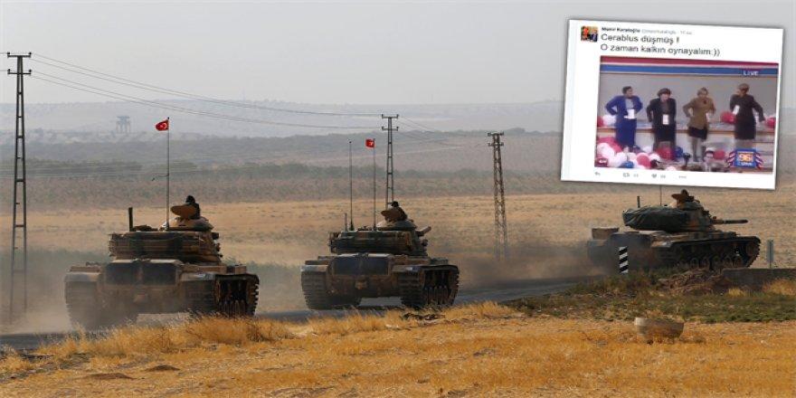 Vali'den Demirtaş'a GIF'li Cerablus göndermesi